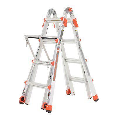 Little Giant 15' Aluminum Multipurpose Adjustable Folding Ladder & Work Platform