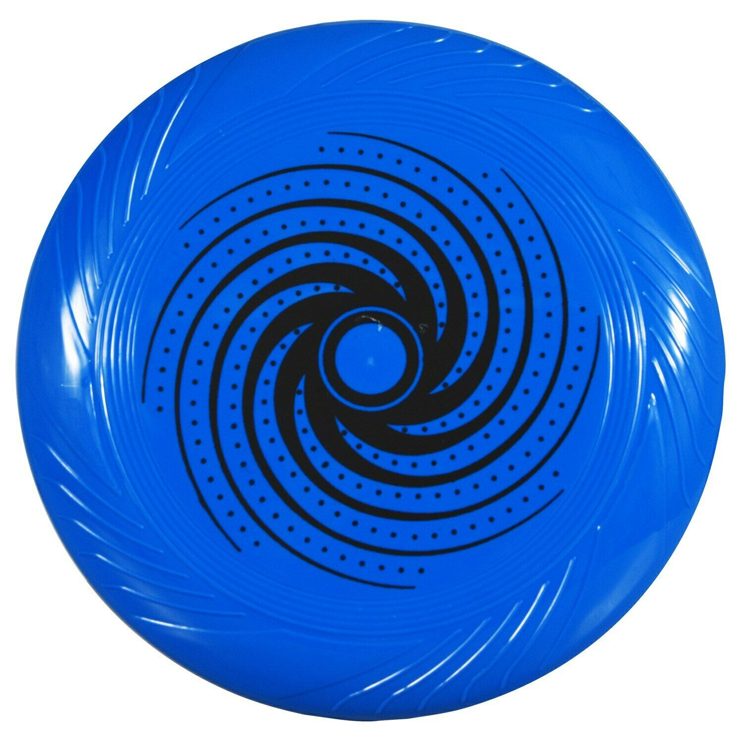 "10"" Blue with Black Swirl Print Plastic Flying Discs Frisbee"