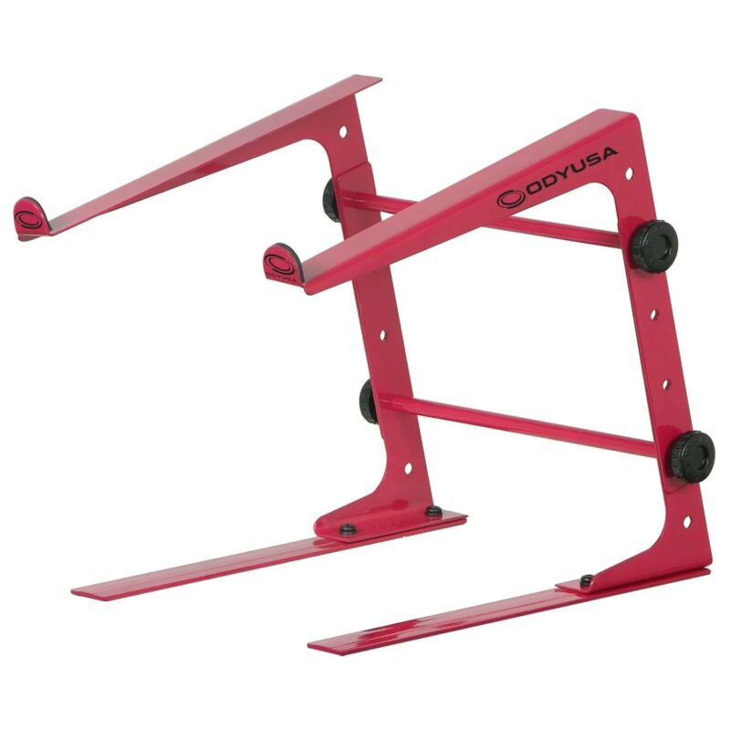 Odyssey LSTANDSRED, DJ Table Top Laptop Stand - Red