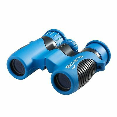 BlueCabi Shock Proof 8x21 Kids Binoculars - High Resolution - Blue/Black