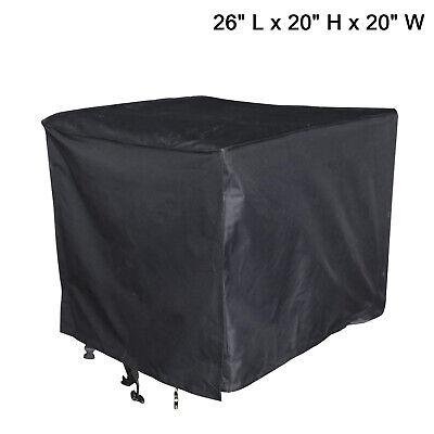 Weatheruv Resistant Generator Cover Black For Portable Generators 26x20x20inch