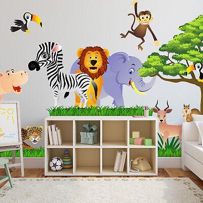 Wandtattoo Fürs Kinderzimmer, Baby. Sticker Aufklebr Tiere, Safari - SDB1