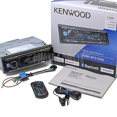 Kenwood KMM-BT515HD MP3 Digital Media Car Stereo w Bluetooth HD Radio SiriusXM