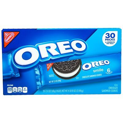 Nabisco Oreo Cookies Snack Food Baked Fresh Bag Pack School Hungry Child 30 (Oreo Snack)