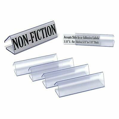 3.15 L Wood Shelf Label Holder Ticket Clip For .6 To .9 Thick Shelves Clear