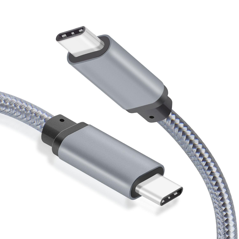 WGGE Metal USB C 3.1 Type-C to USB C 3.1 Type-C Cable Nylon
