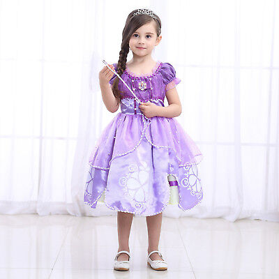 Sofia The First Deluxe Girls Costume Child Princess Fancy Dress