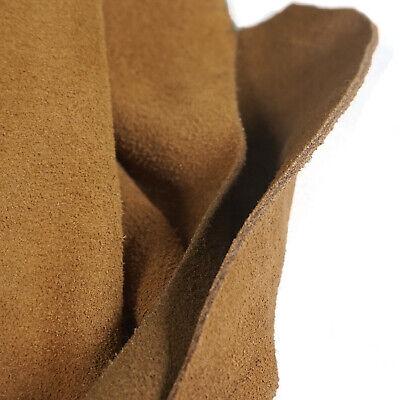 5-6 OZ Suede Leather Pieces Cow Hide Medium Brown Premium quality Split Leather Brown Suede Leather Footwear
