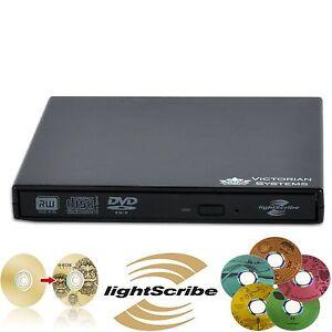 New USB 2.0 External DVD RW CD RW LIGHTSCRIBE Burner DVD Drive For PC Laptop MAC
