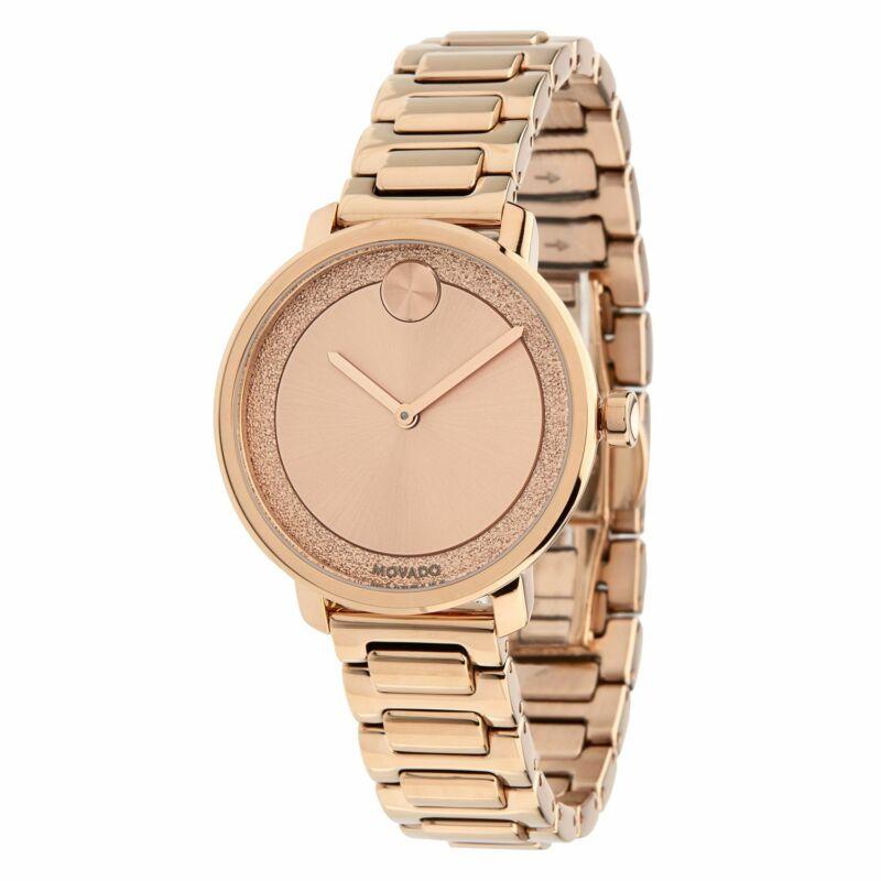 Movado 3600503 Women Bold Rose Quartz Watch