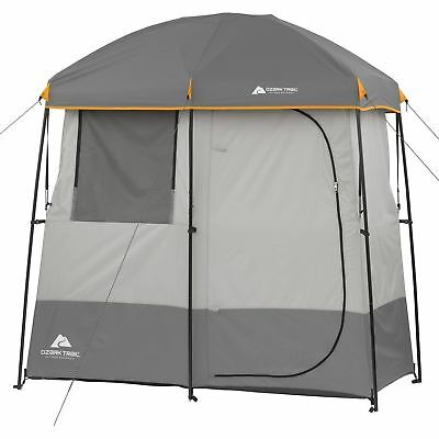 Ozark Trail 2 Room Camping Shower Tent Portable Bath Shelter Outdoors Bathroom