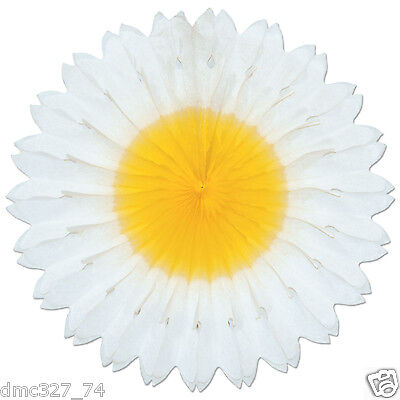 Easter SPRING Groovy 60s Hippie Party Hanging Decoration TISSUE FAN Flower DAISY](60's Party Decorations)