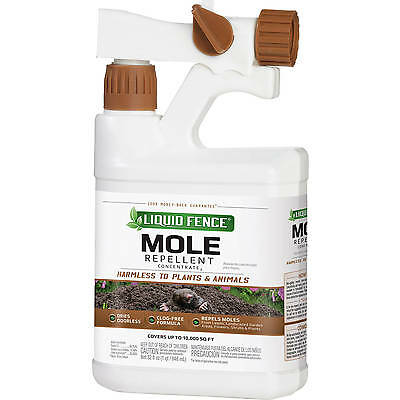Liquid Fence RTS Mole Repellent Concentrate 32 oz Quart Home Pest HTF 166 New