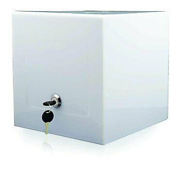Locking Acrylic Display Ballot Cube Security Case For Tabletop 8x8 Opaque