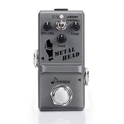 Donner Metal Head Guitar Pure Circuit Effect Pedal Super Mini Distortion Pedal
