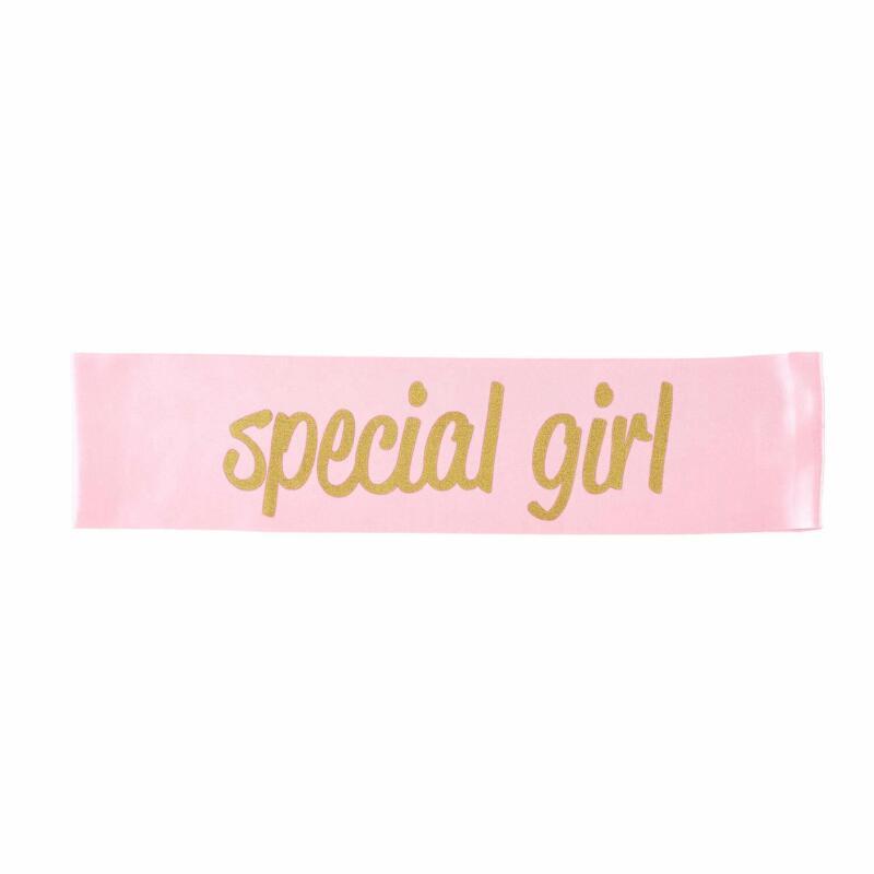 "Stephan Baby 1st Birthday Satin Celebration Stash ""Special Girl"" Pink"