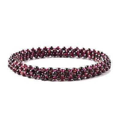 Shop LC Red Garnet Beads Bracelet Fashion Stylish Jewelry Gift For Women Ct 69.5