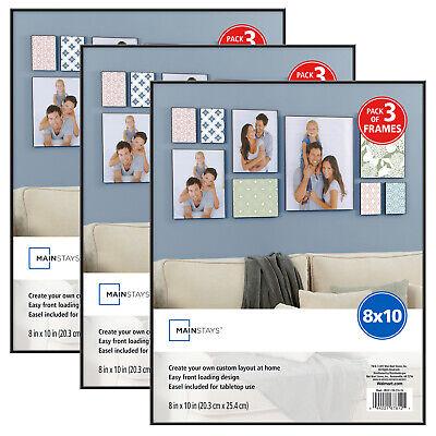 Photo Frame Set Of 3 8x10 Format Lot Wall Art Home Decor Bla