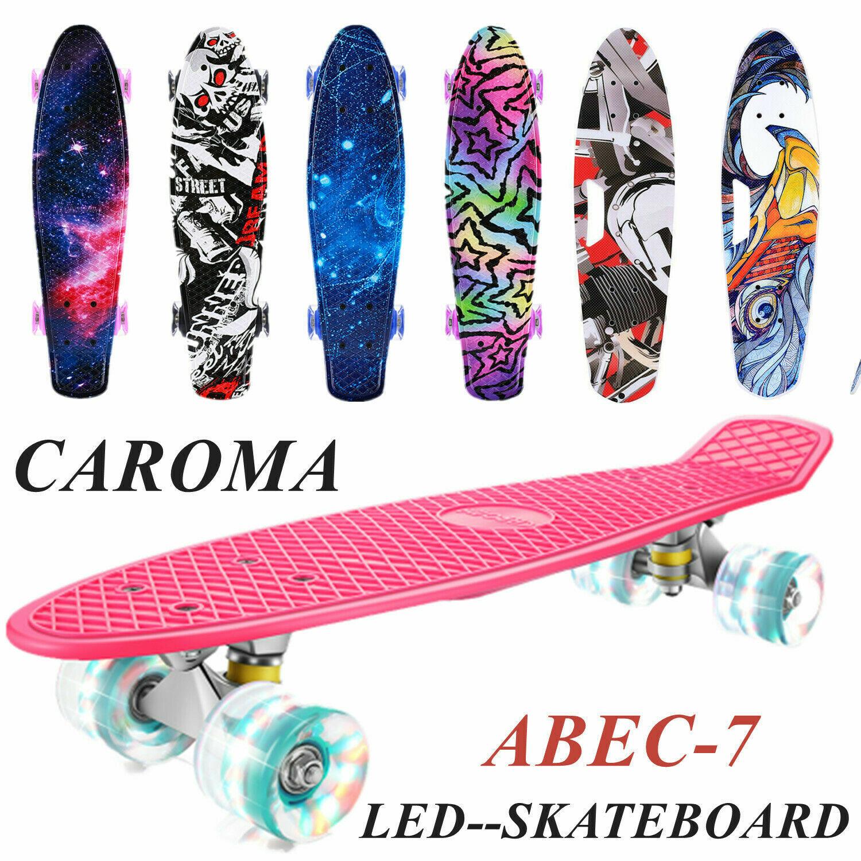 LED Skateboard Kinderboard Funboard Miniboard Komplett Board Pennyboard ABEC-7#1