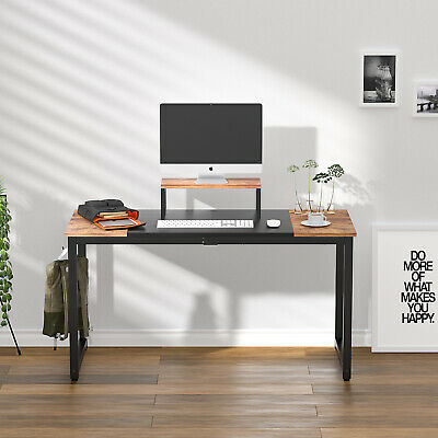 55 Inch Computer Desk Pc Laptop Workstation Study Wood Home Office Desk