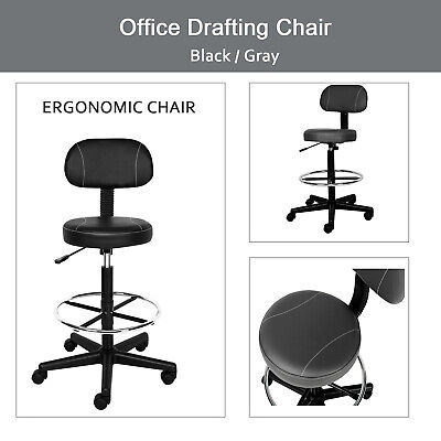 Office Drafting Chair Detachable Mid Back Counter Height Swivel Chair Bar Stool