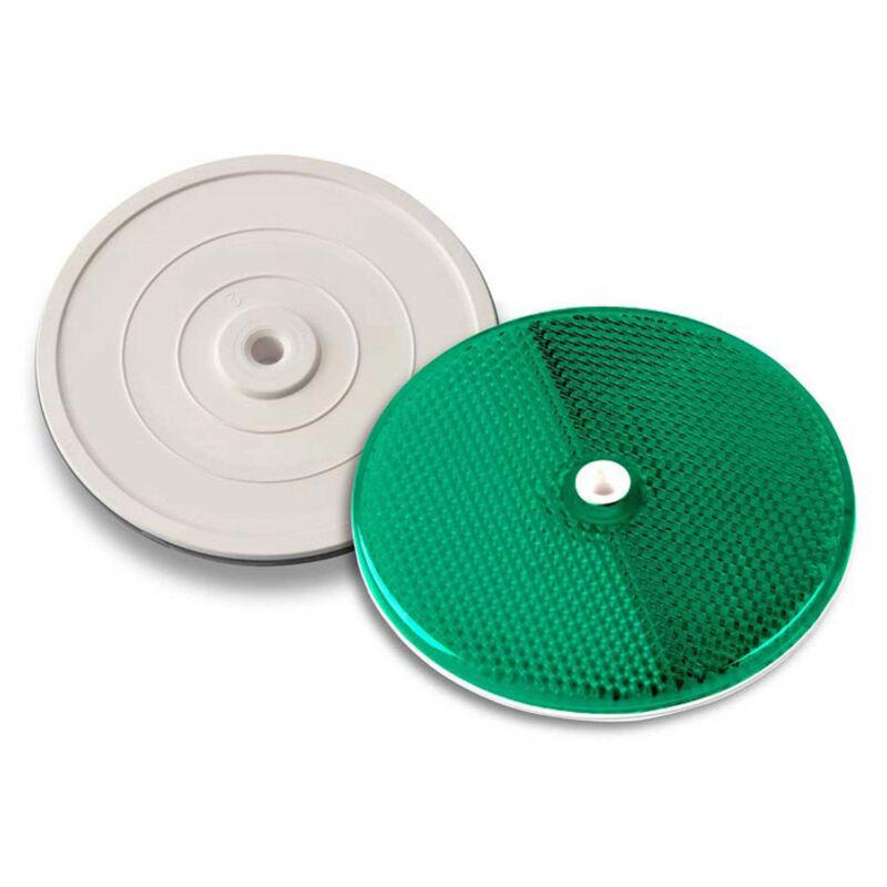 "3-1/4"" Green Reflector, Tapco, Centermount, 102230 ,Plastic Backplate, RT-90G"