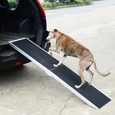 Folding Dog Ramp Lightweight Aluminium Alloy Frame Portable with Carry Handle