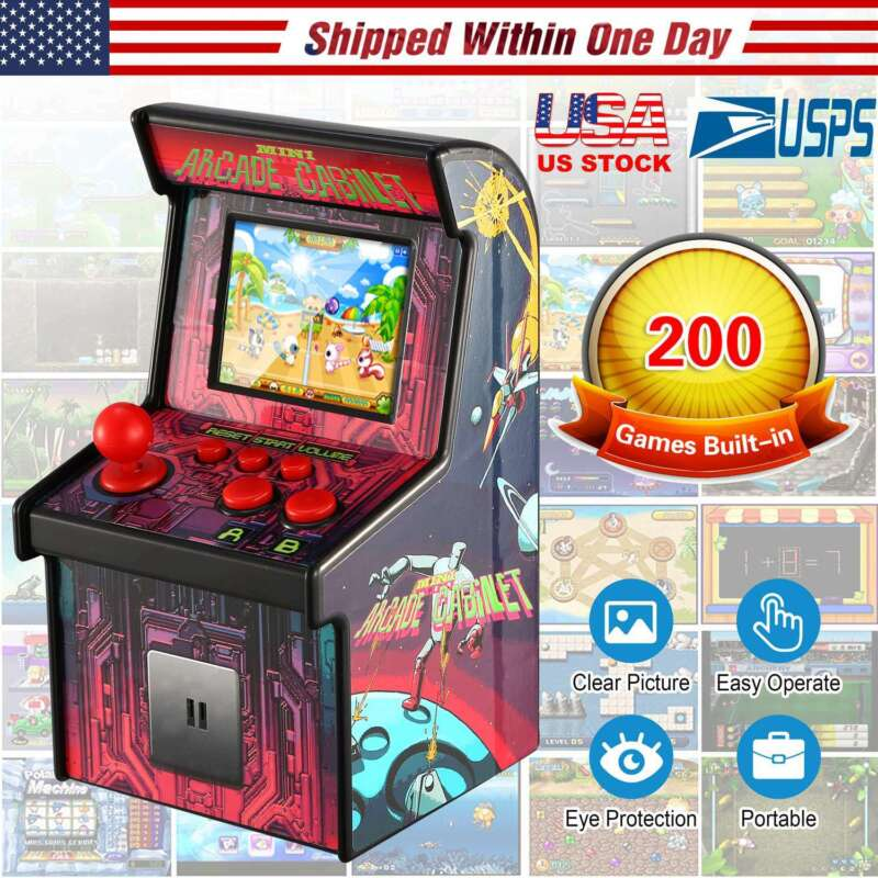 My Arcade Retro Mini Machine 200-Game Portable Tabletop Handheld Gaming System