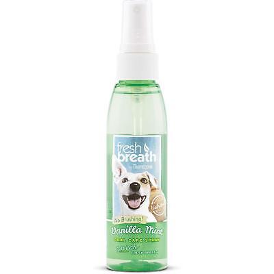 Tropiclean Fresh Breath Vanilla Mint Oral Care Spray for Dogs Breath Fresh Spray