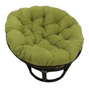 Blazing Needles 44-inch Solid Micro Suede Papasan Chair Cushion Mojito Lime New  sc 1 st  eBay & Papasan Chair | eBay