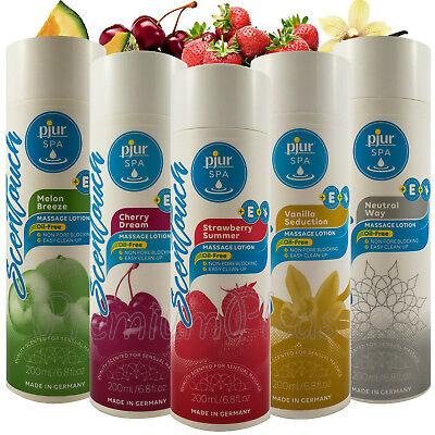 Öl-freie Massage (Pjur Spa Scentouch Massage Lotionen * Ölfreie Aromatisiert 200ml * Erdbeere)