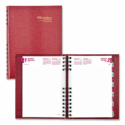 Brownline Coilpro Daily Planner Ruled 1 Daypage 8 14 X 5 34 Red 2020
