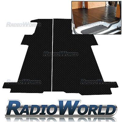 Full Rear Renault Trafic Van 2001 - 2014 Black Floor Rubber Tailored Van Mat 3mm