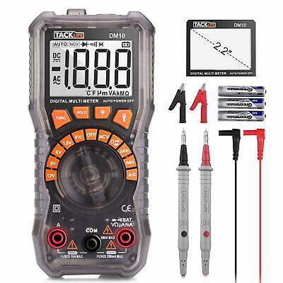 Multimeter Dm10 Electrical Tester 2000 Counts Auto-ranging Amp Volt Ohm Meter D