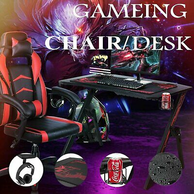 Gaming Desk Home Computer Table Or Leather Adjustable Gaming Racing Chair Office