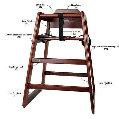 Wooden High Chair, Free -