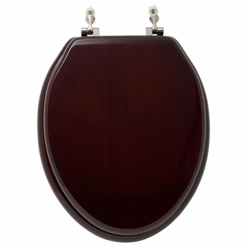 Signature Hardware 903794-E Luxury Mahogany Oak Elongated