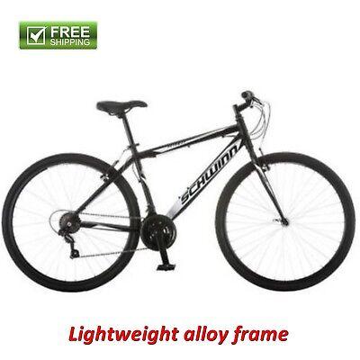 Bicycle Hybrid (Schwinn Hybrid Bike 700C Men's Black Cruiser Alloy Frame Sport Road Bicycle)