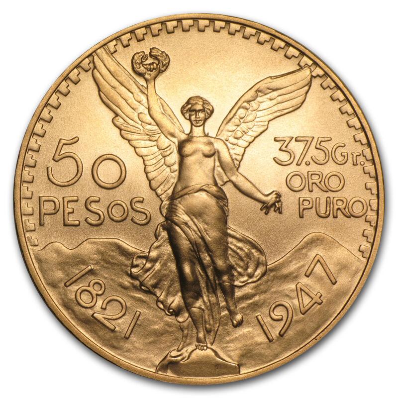 1947 Mexico Gold 50 Pesos Bu - Sku #42455