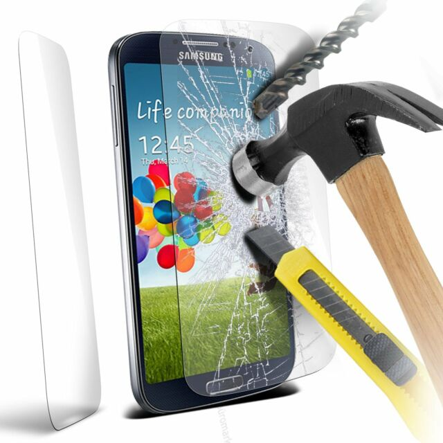 Genuine Premium Tempered Glass Film Screen Protector for Samsung i9500 Galaxy S4