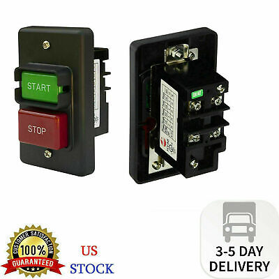 On Off Switch Start Stop Powertec 71008 Single Phase Push Button 110220v 20-35a