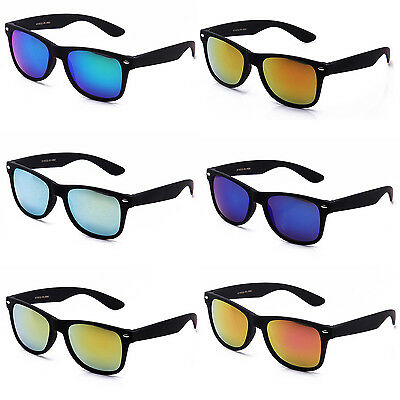 Flash Mirror Sunglasses Reflective Lens Hipster Rubber Touch Finish Sunnies (Touch Sunglasses)
