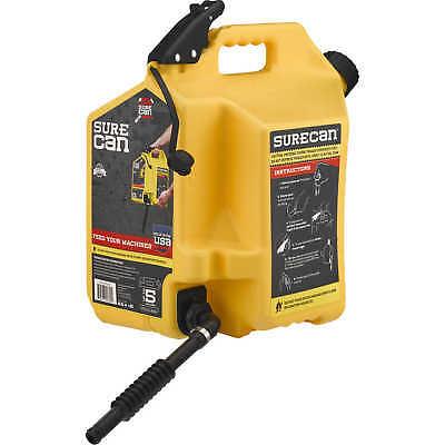 Surecan 5-gallon Yellow Plastic Diesel Fuel Can