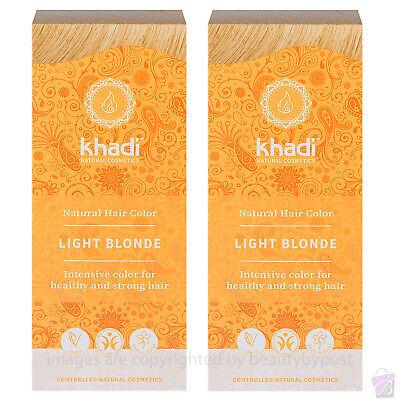 Khadi Herbal Hair Colour Blond Light Blonde 100g Pack of 2