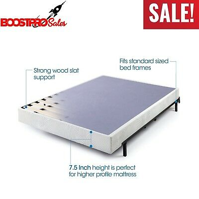 BOX SPRING Twin XL Full Queen Cal King Size Bed 7.5 Inch Mattress Foundation (Cal King Spring)