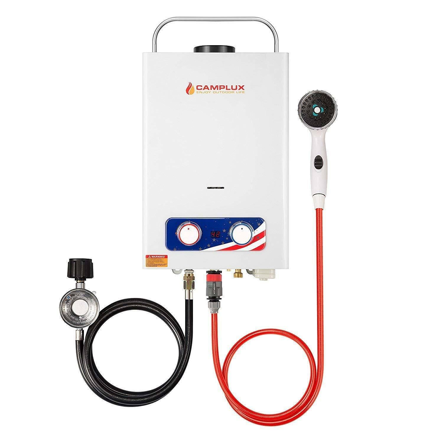 Camplux Tankless Water Heater Propane Gas 1.32 GPM 4WD New D