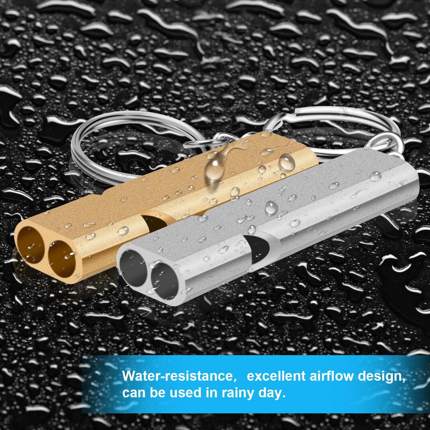 2 Pcs 120db Loud Emergency Survival SOS Whistle Camping Hiking Keychain Outdoor Camping & Hiking