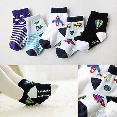 "Vaenait Baby Kids Toddler Clothes Boys Non-slip Socks ""Good boy 5set 4"" M(3-5T)"