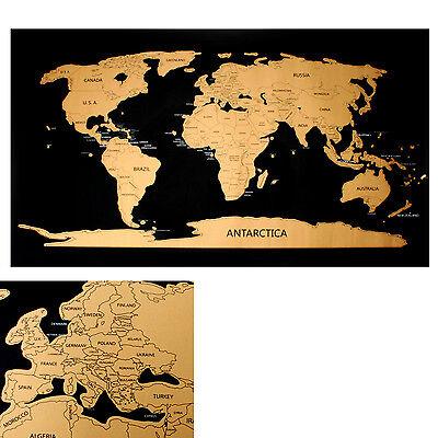 Rubbel Weltkarte zum frei rubbeln Scratch off world map Rubbelkarte Landkarte