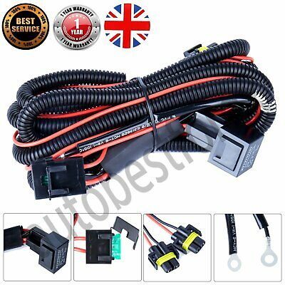 Wiring Loom Harness Kit Front Fog Light Lamp For Transporter T5/Caravelle